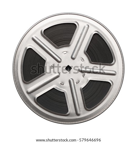 Film reel isolated on white background
