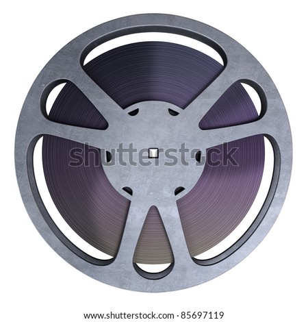 film reel strip (clipping path and isolated on white)