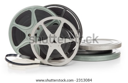 reels of film. stock photo : film reels and