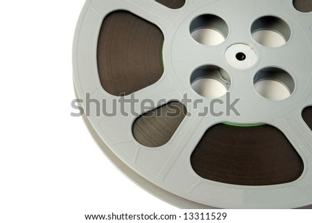 Film reels close-up