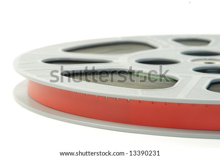 Film reels close-up - stock photo