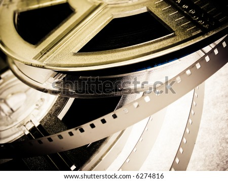 Film reels closeup