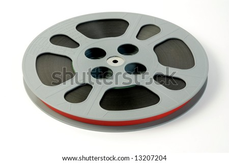 Film reels isolated on white - stock photo