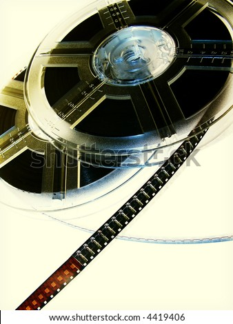Film reels. Movie concept