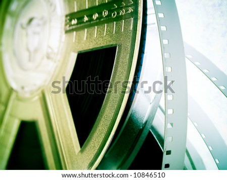 Film reels. Movie industry concept