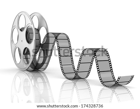 Film roll and strip isolated