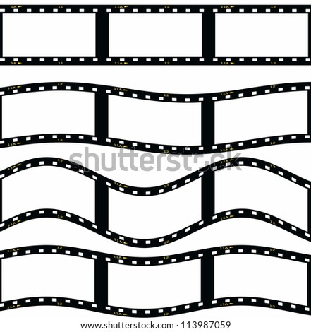 film strip illustration isolated on white background
