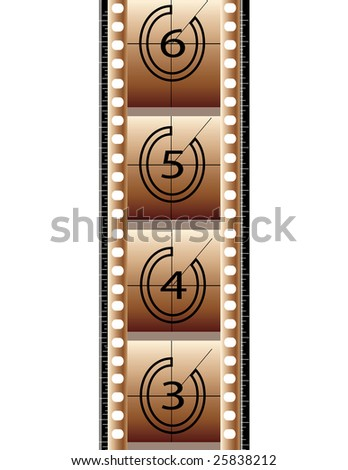 Film strip isolated in white background