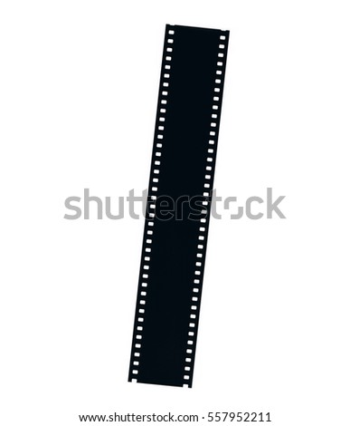 film strip isolated on white...
