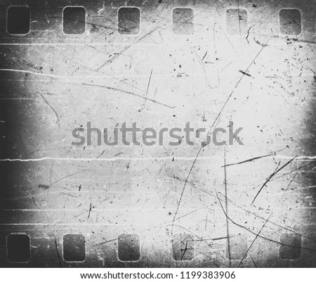 Film strip negative texture with dust and scratches
