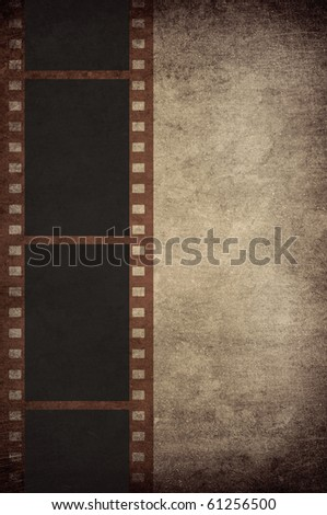 film strip on vintage background with space for text
