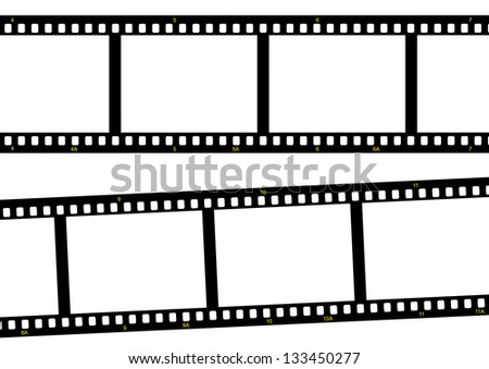 film strip ready to be filled with pictures Photography concept