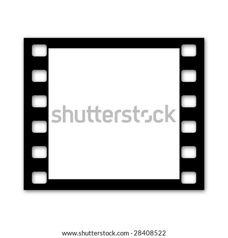 Film strip, single square frame