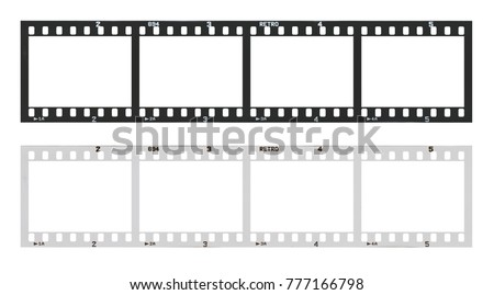 film strip template with frames ...