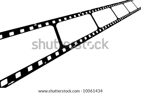 Film strip with blank frames.