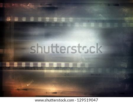 Film strips background, copy space