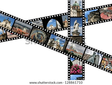 Film strips with travel photos. Prague, Czech Republic. All photos taken by me, filmstrip illustration made by me.