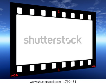 Film with Frame Numbers on Horizon Backdrop
