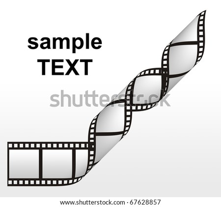 filmstrip on the white backgrounds