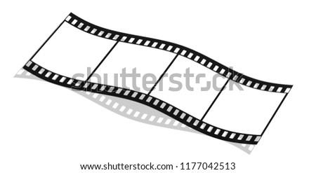 Filmstrip on white background, 3D-Illustration