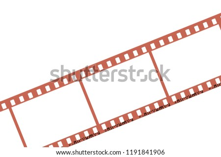 Filmstrip on white background,Illustration
