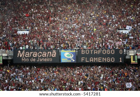 final of the soccer rio state championship 2007 between flamengo and botafogo in the maracana stadium in rio de janeiro brazil