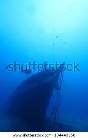 Final Resting Place of the Carthaginian. The tall ship Carthaginian was sunk to make an artificial reef off the coast of Maui, HI. Scuba divers drop down 80ft to check the wreck for underwater life.