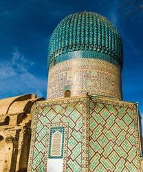 Final resting place of Timur - Dome of Gur-e-Amir Mausoleum in Samarkand