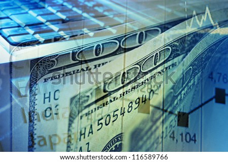 Finance background with dollars. Business concept.