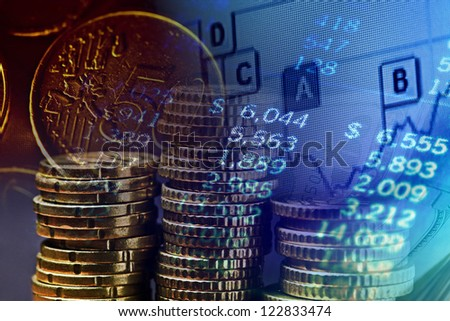 Finance background with money and chart. Finance concept.