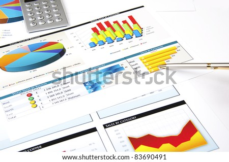 finance charts and graphs, finance investment business concept