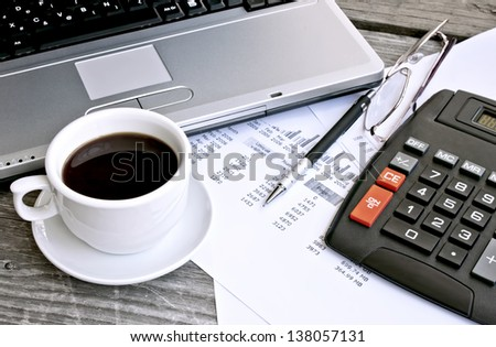 Finance Concept, Office Objects
