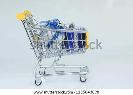 finance concept - shopping and reward yourself after work hard #1135843898