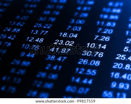 Finance data background. Macro image.