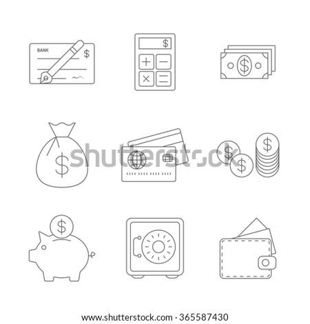 Finance Icons Line #365587430