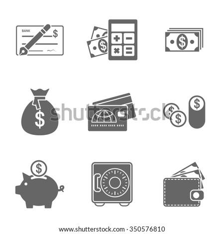 Finance Icons Set #350576810