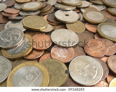 Finance series. Coins background