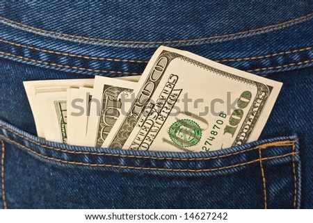 finance series: money in the pocket of jeans