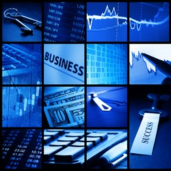 Finance system concept.