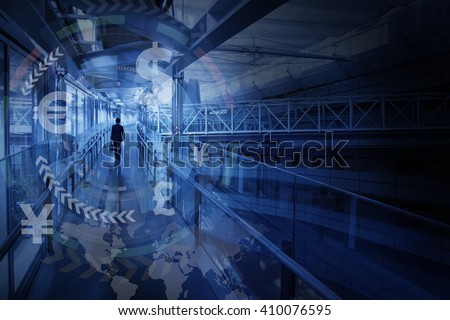 finance technology(fintech) and world economy, abstract image visual