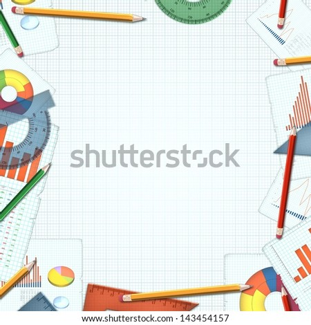 financial accountant business colorful background illustration
