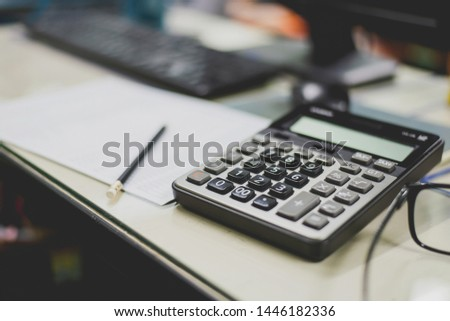 financial accounting and calculation on office #1446182336