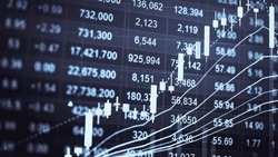Financial accounting of profit summary graphs analysis. The business plan at the meeting and analyze financial numbers to view the performance of the company in stock market exchange.