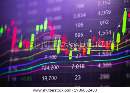 Financial accounting of profit summary graphs analysis. The business plan at the meeting and analyze financial numbers to view the performance of the company in stock market exchange. Stockfoto ©