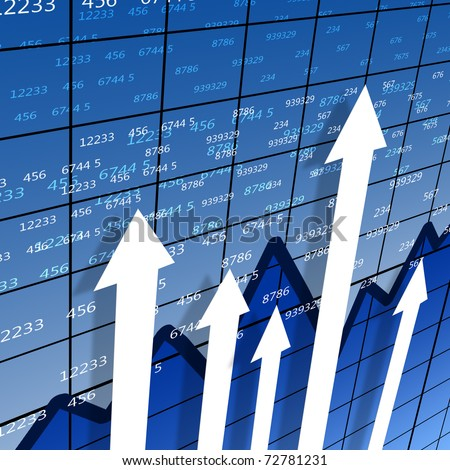 financial and business chart and graphs as symbols of growth