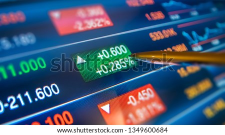 Financial and Technical Data Analysis Graph, pen showing rising data close up