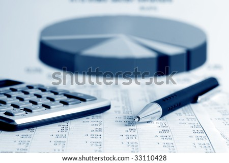 Financial balance and stock market reports.