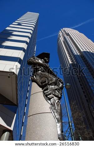 Financial buildings in Charlotte, North Carolina, USA