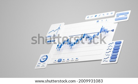 Financial business investment stock market forex crypto currency Trading candlestickdata profits analysis chart graph interface display technology, stock chart concept, 3d rendering.