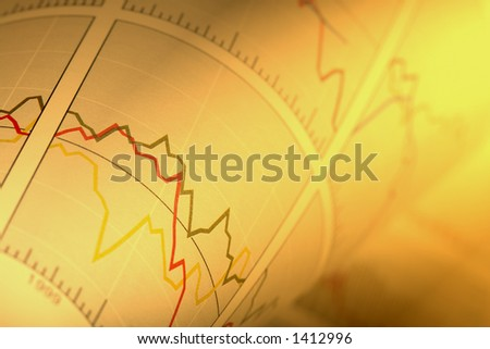 Financial Chart as Background